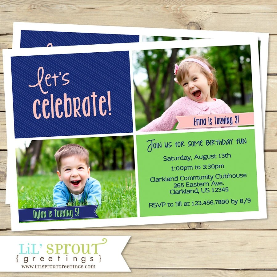 joint birthday party invitation