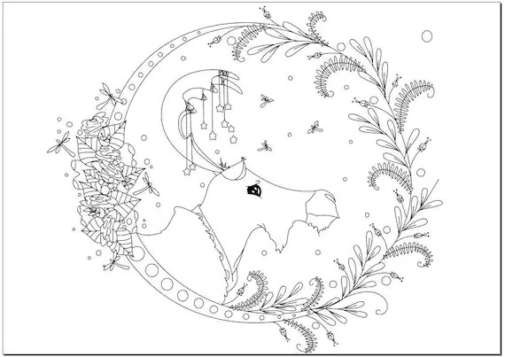 moose coloring page # 63