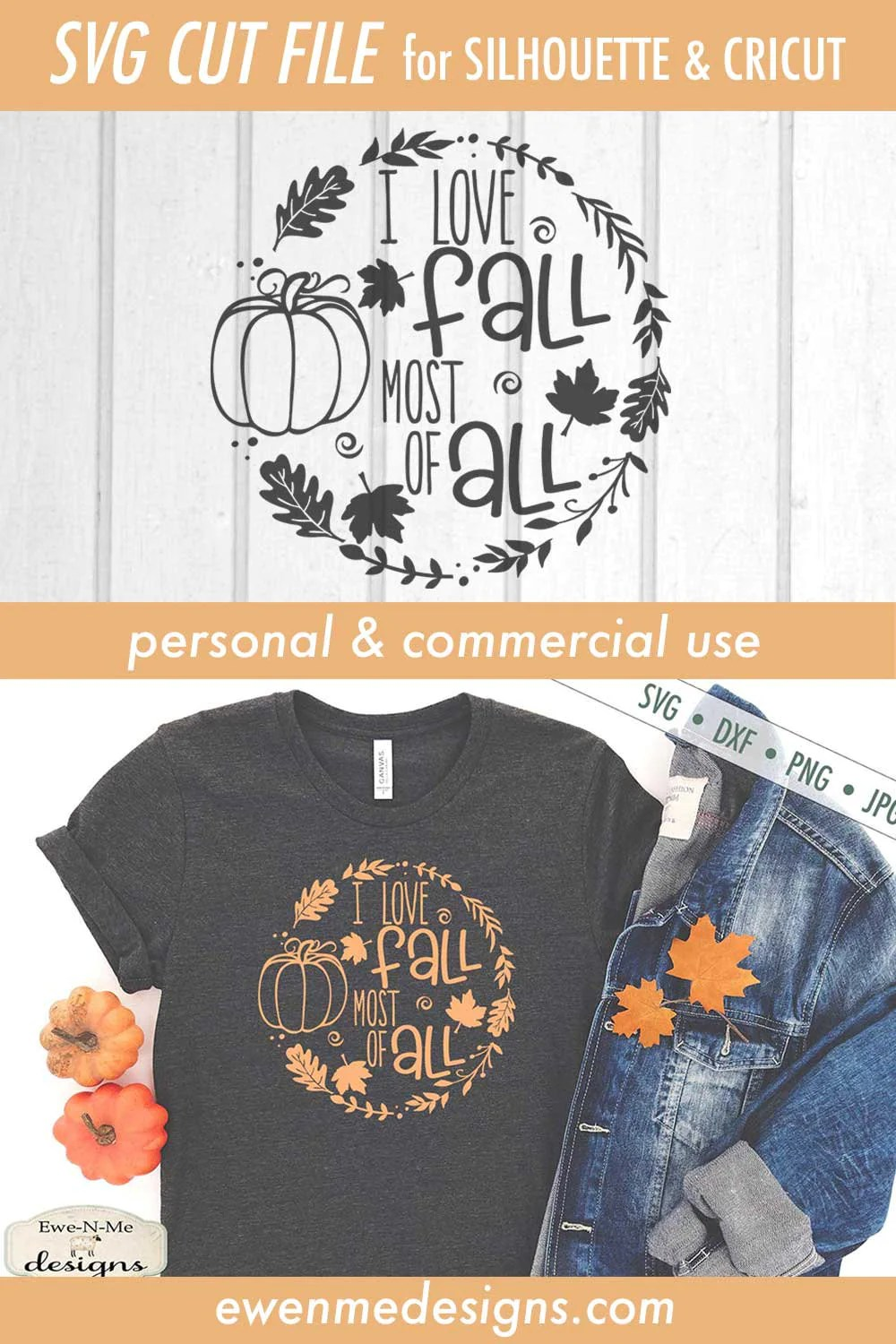 Download I Love Fall Most of All SVG - Commercial Use svg, dxf, png ...