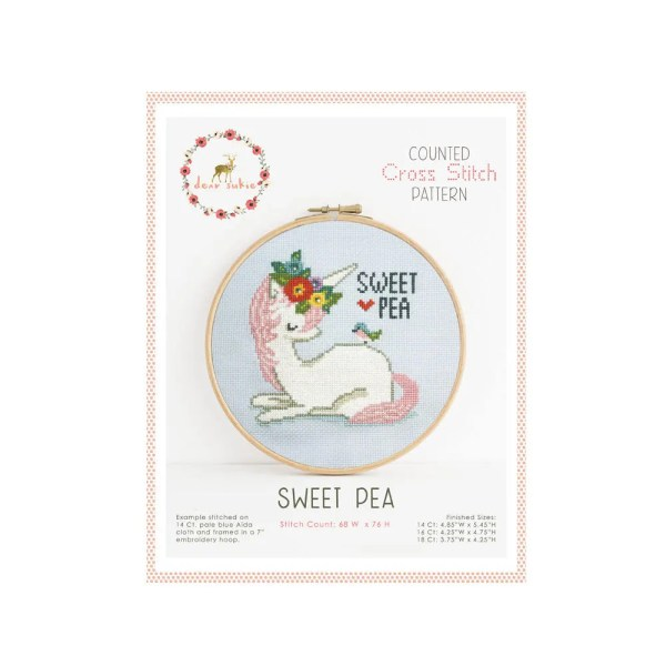 sweet pea embroidery # 44