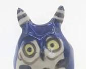 blue fairy owl figurine sculpted original