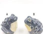 Black Crazy Toad Figurines
