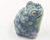 The very green toad stoneware sculpture