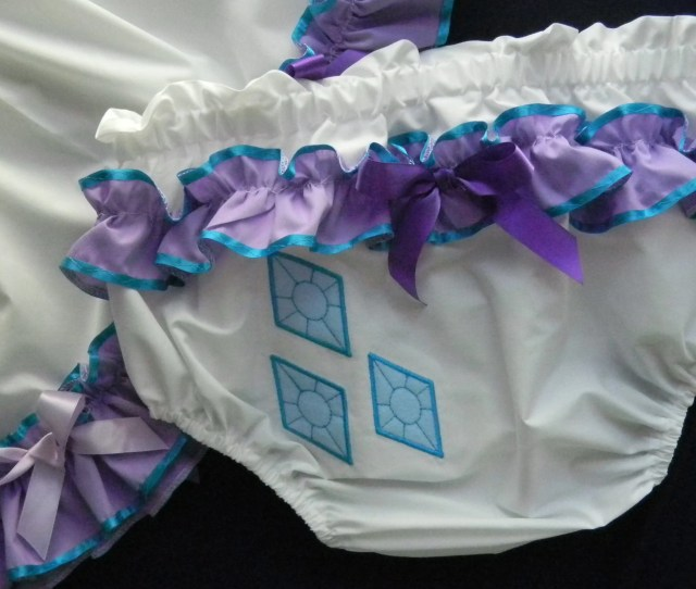 Adult Baby Sissy Littles Abdl My Little Pony Rarity Diaper Cover Dress Up Binkies N Bows