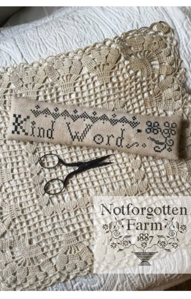 Kind Words  PDF/Download cross stitch pattern  from image 0