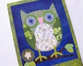 Owl Postcards // Blue and Green