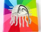 Rainbow Collage // Jellyfish Diagram // Fluorescent Bright Home Decor