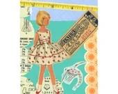 Plankton Girl  // Collage Art Print