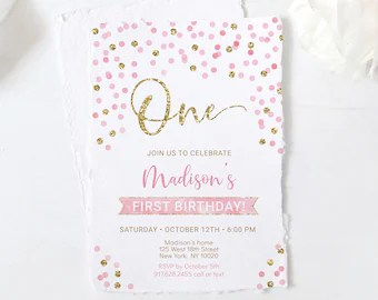 pink gold invitation etsy
