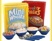 BREAKFAST CEREAL - PDF Felt Food Pattern (Four Boxes, Cereals, Bowls, Spoons)