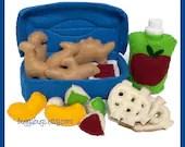 DINOSAUR NUGGETS - PDF Sewing Pattern (Dino Nuggets, Sauce, Nugget Box, Applesauce, Apple Bites, Mandarin Oranges, Waffle Fries, Fruit Cup)