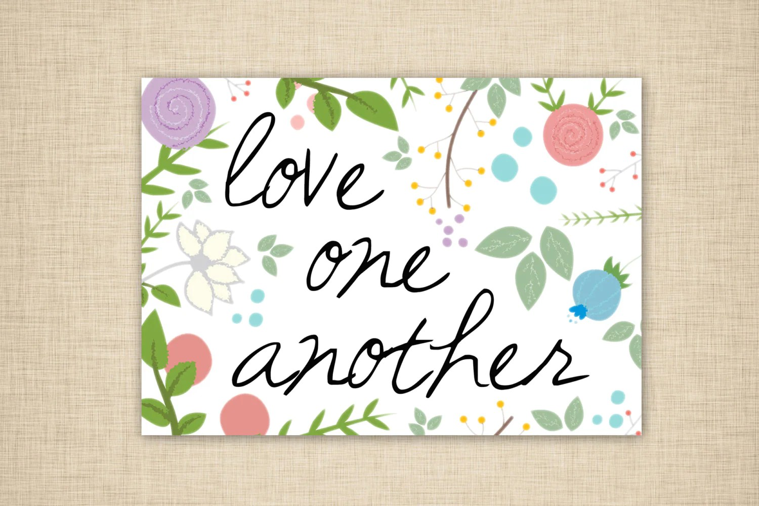 Love One Another Wall Art Word Art Printable