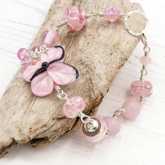Pastel Pink Butterfly Bracelet