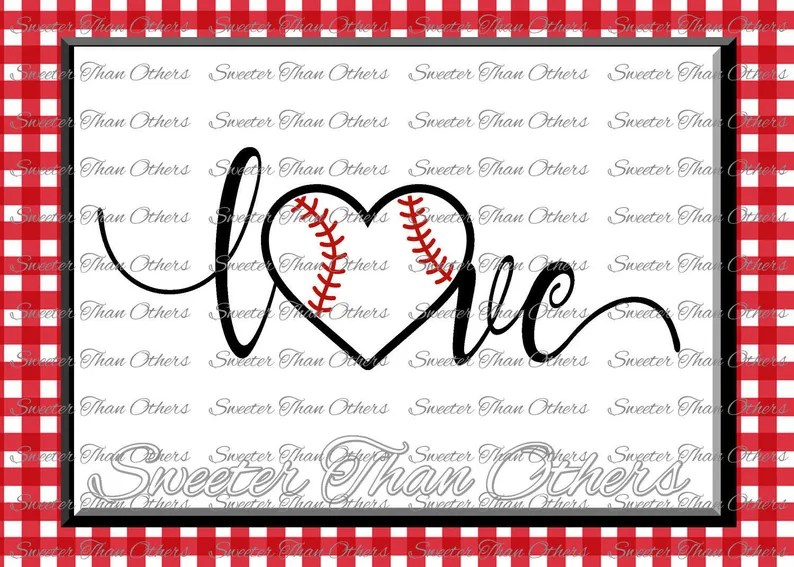 Download Baseball SVG love Softball htv Tshirt Design Vinyl SVG and ...