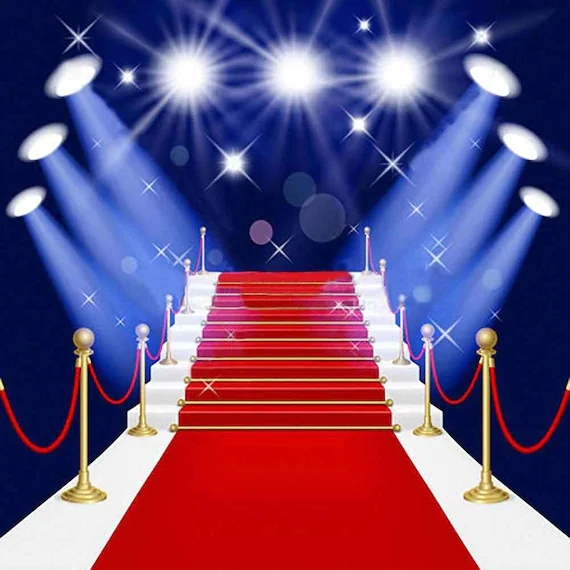 Gorgeous Red Carpet Stairs 10Ft X 10Ft Backdrop Computer Etsy | Printed Carpet For Stairs | High Traffic | Gray | Karastan Patterned | Georgian | Middle Open Concept