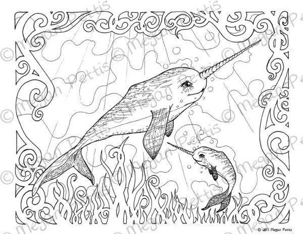 narwhal coloring page # 75