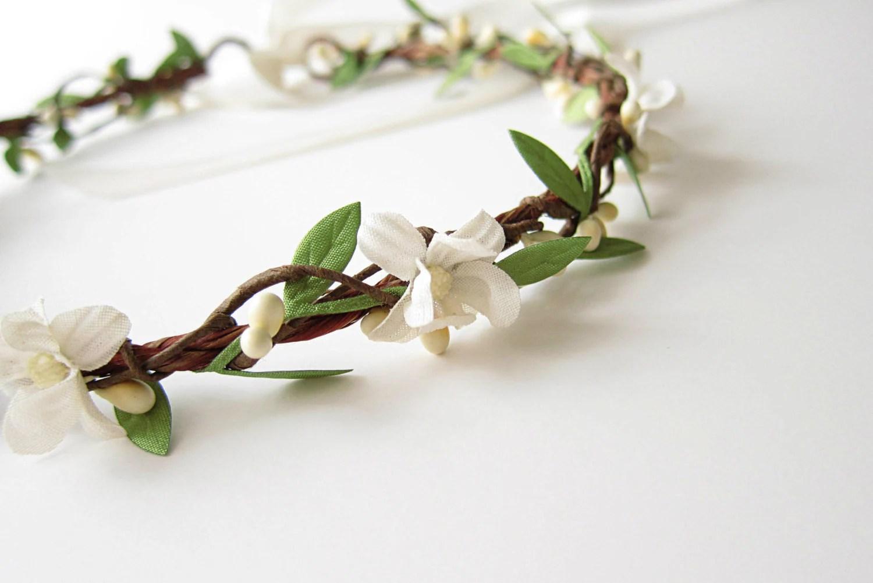 Wedding Headpiece Vintage Flower Hair Wreath Boho Bridal