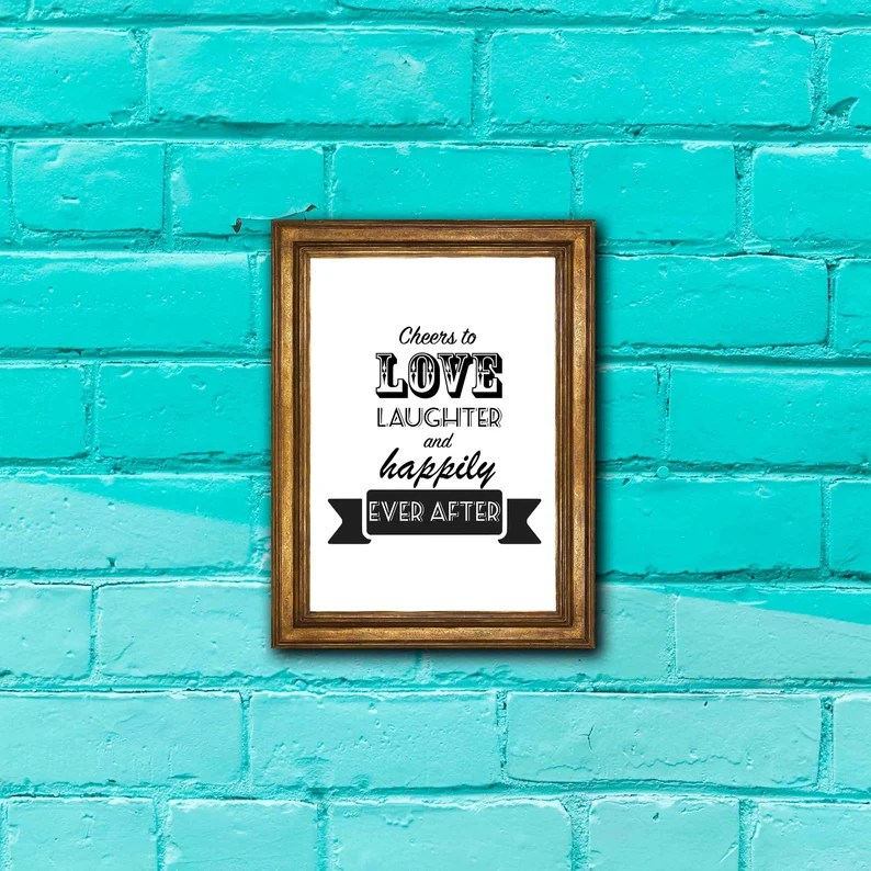 Download Cheers to Love Laughter and Happily Ever After Digital | Etsy