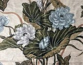 Vintage Island Floral Fabric Neutral Earth Tones