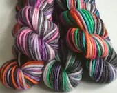 Hand dyed yarn mini skein...