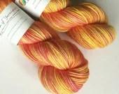 Hand dyed wool yarn. 100g...