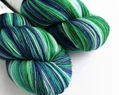 Hand dyed blue and green ...