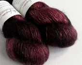 Hand dyed tonal red and b...