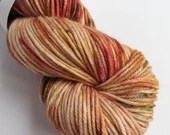 Hand dyed superwash merino/nylon dk wool, variegated double knit. Molly autumn coloured thick sock yarn.