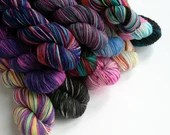 Hand dyed yarn, superwash merino/nylon sock yarn wool, 50g/212m, variegated yarn, indie dyed yarn, sock knitting wool, half skein sock yarn