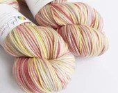 Hand dyed superwash merino/cashmere/nylon double knit wool yarn, MCN DK yarn, variegated pastels - Gilderoy.