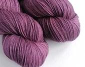 Hand dyed organic merino 4ply/fingering yarn.  Non superwash merino wool, deep pink and grey fingering weight wool yarn, organic merino wool