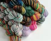 Hand dyed yarn, superwash...