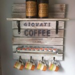 Coffee Station Kitchen Storage Coffee Cup Rack Coffee