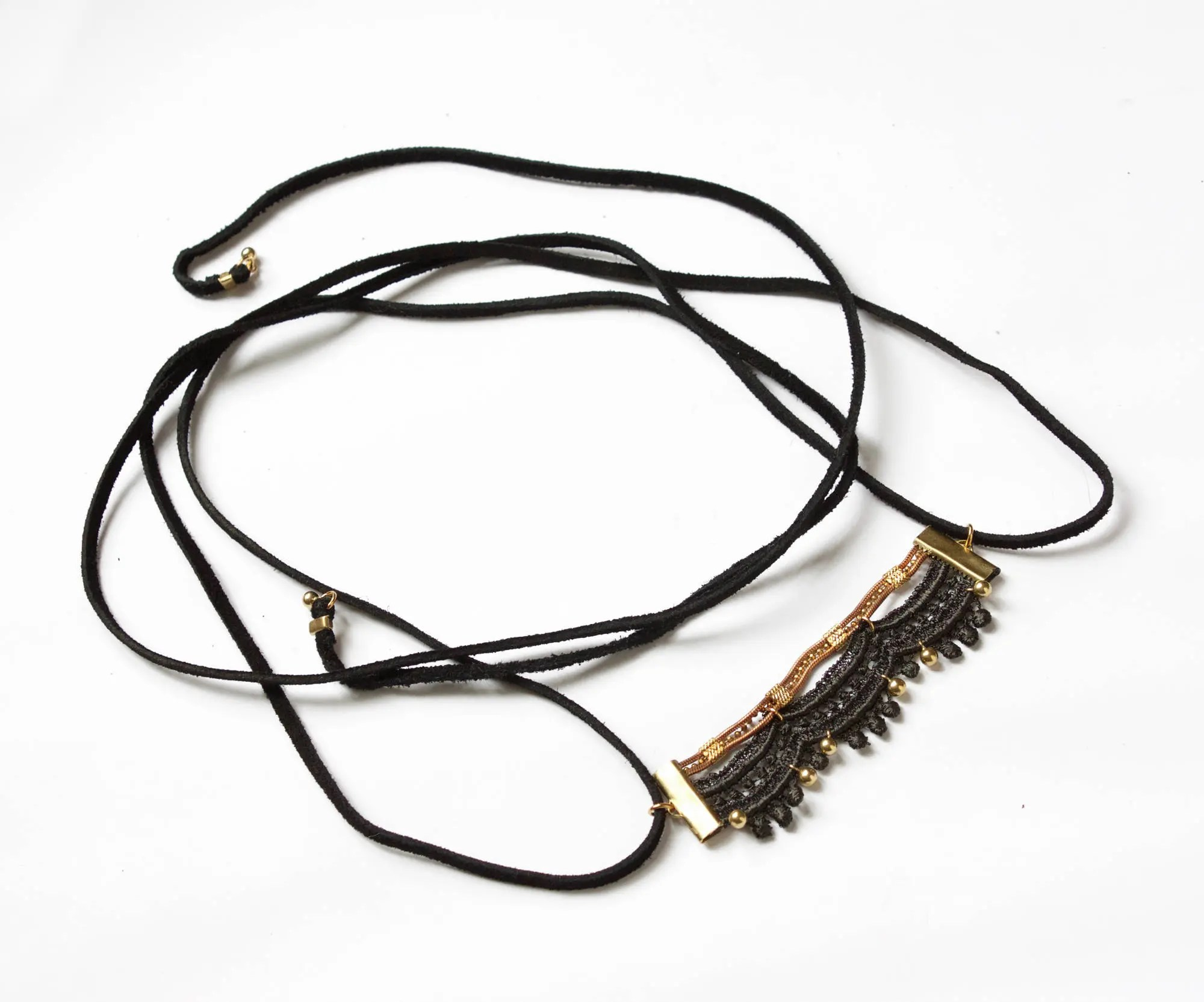 Lace Choker Necklace Amp Body Harness Jewelry Percia Black