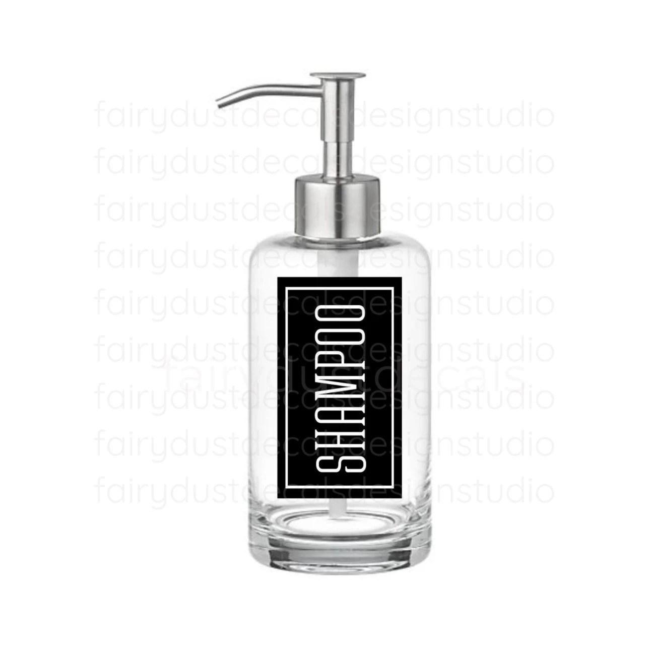 Shampoo Label For Dispenser Bottle Shampoo Vinyl Decal Hair Products Sticker For Glass Bottle
