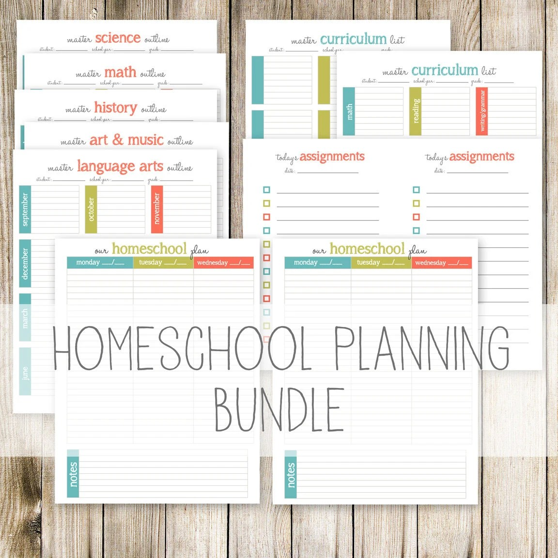 Homeschool Planning Bundle 11 Printable Planning