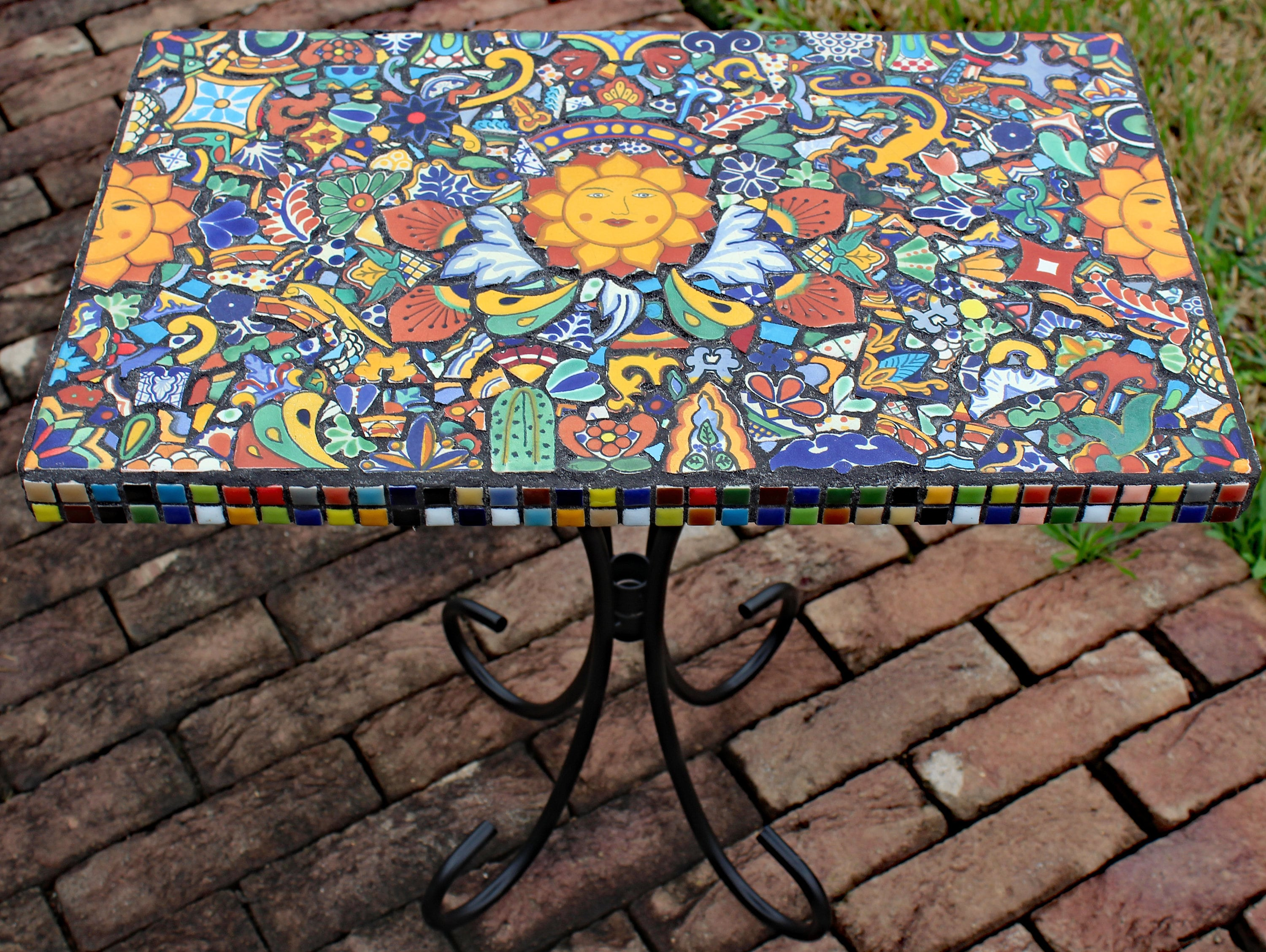 mosaic southwestern mexican table made