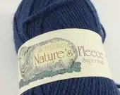 deSTASH, Patons Natures Fleece Superwash, Dark Blue Wool yarn, knitting yarn, navy blue knitting yarn, super wash yarn, free shipping, wool