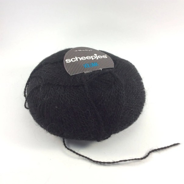 deSTASH, scheepjes voluma, black knitting yarn, black yarn, acrylic and mohair yarn, sport weight yarn, vintage knitting yarn, yarn destash