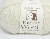 deSTASH yarn, Elsebeth Lavold Favorite Wool, ecru wool yarn, worsted weight knitting yarn, yarn to dye, crochet yarn, knitting yarn, white