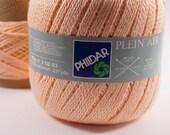 deSTASH Yarn, Phildar Plein Air, Phildar knitting yarn, cotton yarn, DK yarn, peach yarn, coral, apricot, crochet yarn, knitting yarn, baby