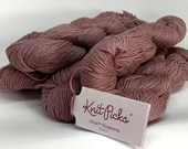 deSTASH yarn, KnitPicks Gloss, Fingering Yarn, Velveteen, pink yarn, mauve yarn, wool silk blend, silk yarn, knitting yarn, crochet yarn,