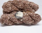 deSTASH yarn, NORO Warabe uta, Wool Angora Blend, Knitting Yarn, worsted weight yarn, brown knitting yarn, brown  white yarn, crochet yarn
