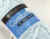 deSTASH Knitting Yarn | Berroco Comfort DK yarn | deSTASH Crochet Yarn | green sport weight yarn | baby blue knitting yarn | gray yarn