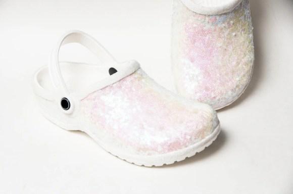 Bridal Favorite  Starlight Sequin Crystal Iris Clogs Classics image 0