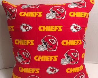kc chiefs pillow etsy