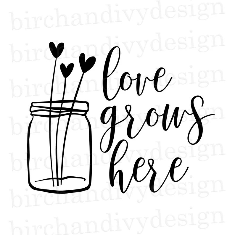 Download Love Grows Here SVG File Instant Download for Cricut or | Etsy