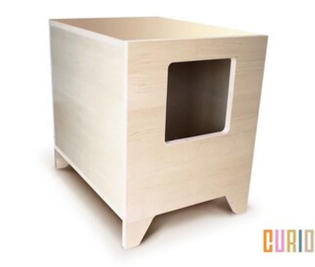 Curio In Maple Modern Cat Litter Box Designer Cat House Cat Furniture Pet House Mid Century Modern Ready To Ship