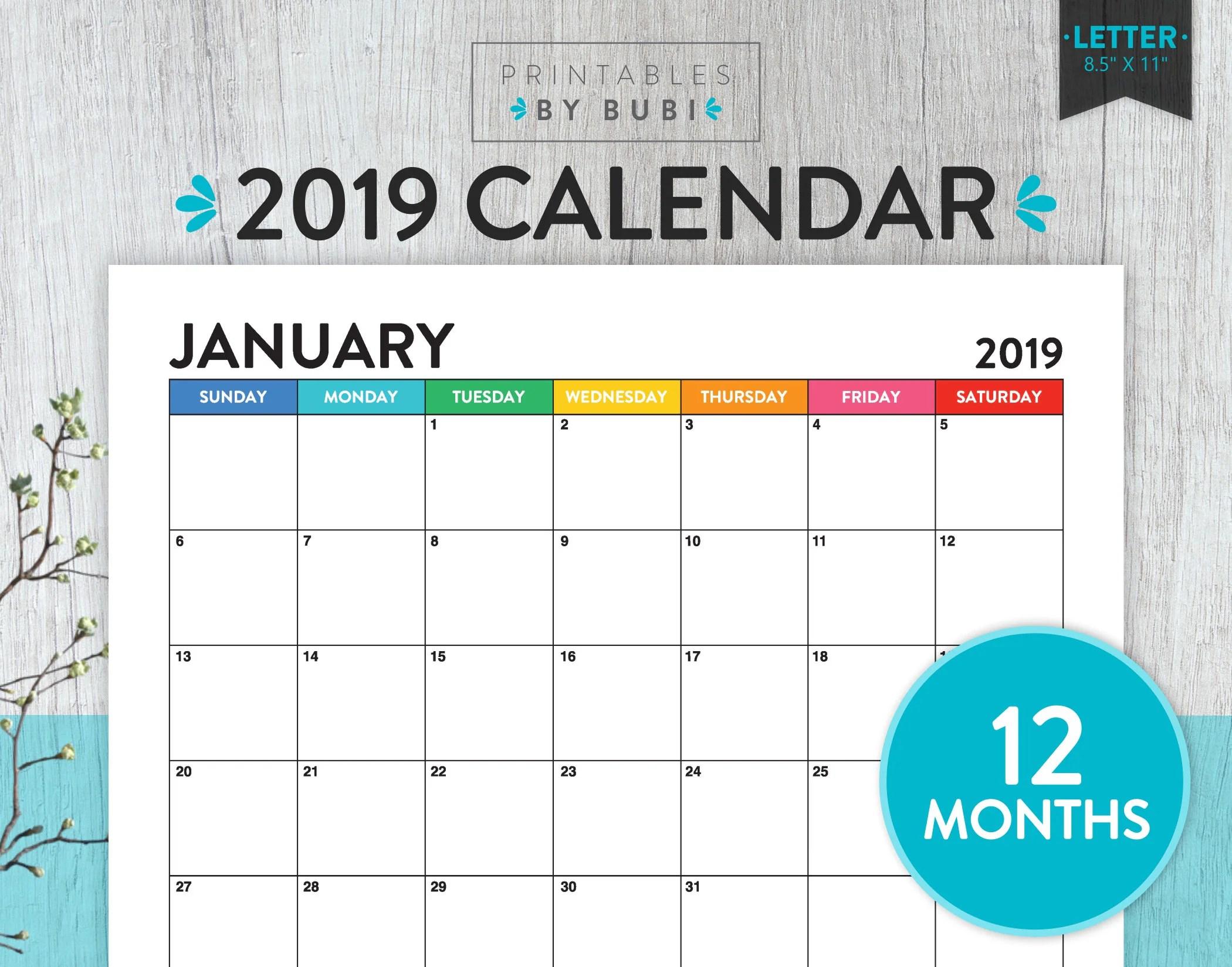Printable Monthly Calendar Calendar Printable