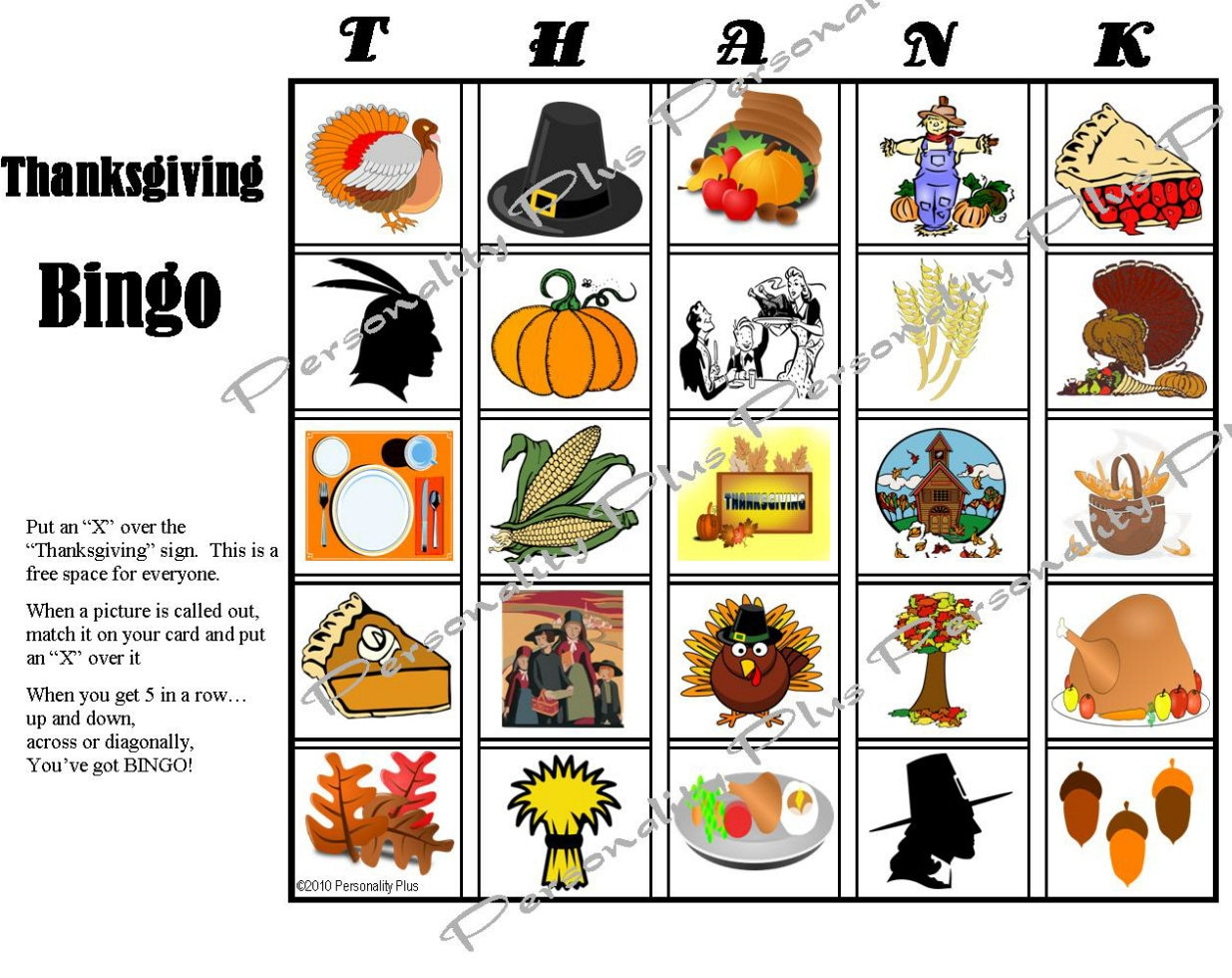 Printable Thanksgiving Bingo And Indoor Scavenger Hunt